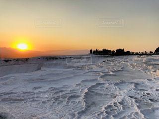 パムッカレの夕日の写真・画像素材[2628514]