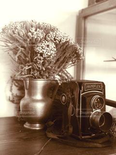 レトロなカメラの写真・画像素材[2914427]