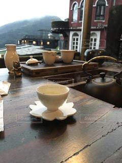 【台湾・九份】美味しいお茶をテラス席での写真・画像素材[1839946]