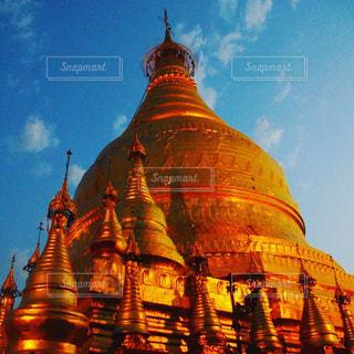 景色,東南アジア,仏教,金色,パゴダ