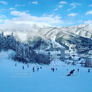 自然,風景,空,雪,屋外,山,スキー,スキー場,スノーボード,斜面,日中