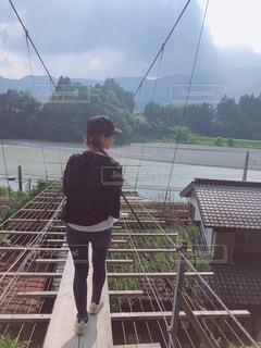 20代,自然,空,川,フィルム,吊橋,フィルム写真,日帰り旅行,大井川,フィルムフォト
