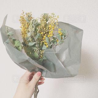 花,花束,ドライフラワー,プレゼント,ブーケ,ミモザ,ミモザの日