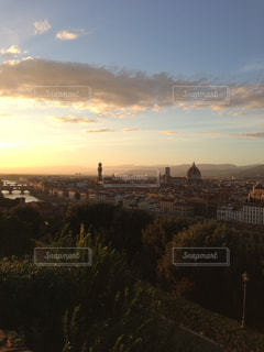 旅行,イタリア,夕景,フィレンツェ,ミケランジェロ広場