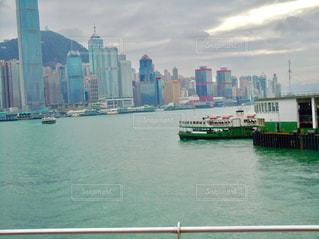 海,建物,ビル,海外,都会,旅行,中国,香港,海外旅行