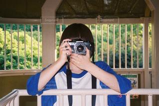 ボブとカメラの写真・画像素材[1844260]