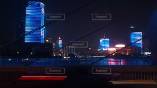 風景,夜,川,観光