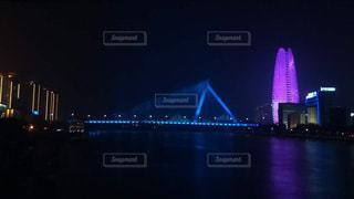 風景,夜,橋,川,観光