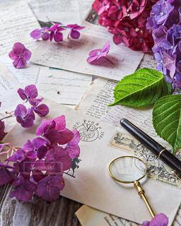 万年筆で大切な人へ手紙を書くの写真・画像素材[2263048]