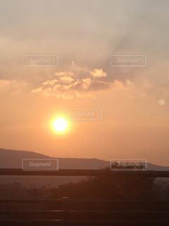 韓国の夕陽の写真・画像素材[2039244]
