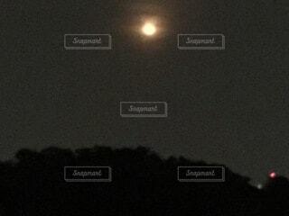 夜の月の写真・画像素材[3960901]