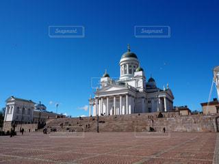 風景,屋外,白,雲,青空,青,観光地,景色,観光,旅行,旅,海外旅行,大聖堂,フィンランド,ヘルシンキ,ヘルシンキ大聖堂