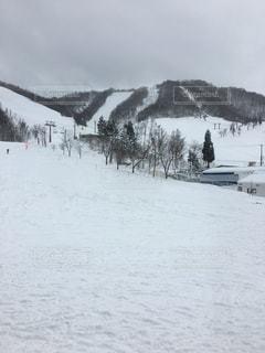 雪に覆われた斜面の写真・画像素材[1850012]