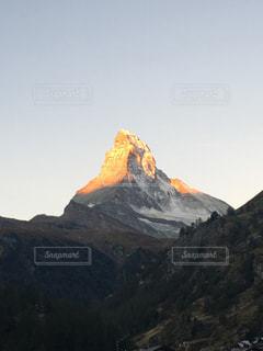 自然,風景,屋外,朝日,黄色,山,マッターホルン,スイス,神々しい