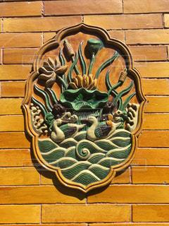 黄色,アート,壁,タイル,中国,壁画