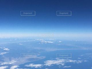 飛行機から見る美しい富士山の写真・画像素材[1861572]