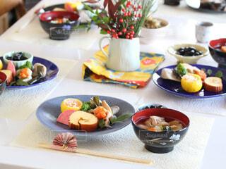お正月の食卓の写真・画像素材[4053803]