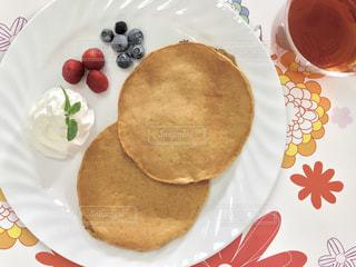 朝のパンケーキの写真・画像素材[1866354]