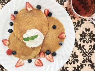 朝のパンケーキの写真・画像素材[1866358]
