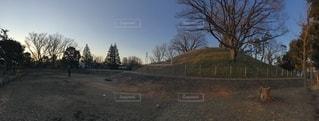 公園の夕焼けの写真・画像素材[1862252]