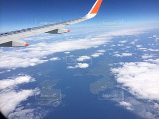 高空を飛んでいる飛行機の写真・画像素材[1865852]