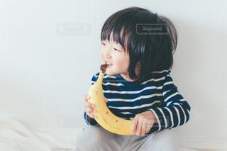 子ども,果物,人,赤ちゃん,食べる,幼児,バナナ