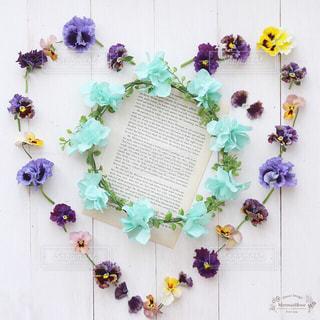ハート,花冠,ビオラ,花かんむり