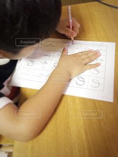 硬筆の宿題の写真・画像素材[2254991]