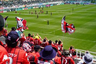 後ろ姿,サッカー,スタジアム,応援