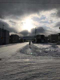 空,雪,屋外,太陽,光,日中,クラウド