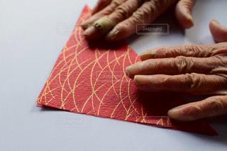 お婆ちゃんの手の写真・画像素材[2003611]