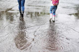 雨を楽しむの写真・画像素材[2218194]