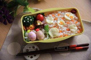 水玉弁当の写真・画像素材[2484247]
