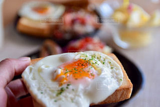 朝ごパンプレートの写真・画像素材[2491488]