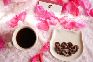 コーヒーとチョコレートの写真・画像素材[2932291]