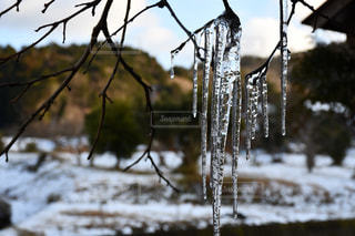 水,氷,氷柱