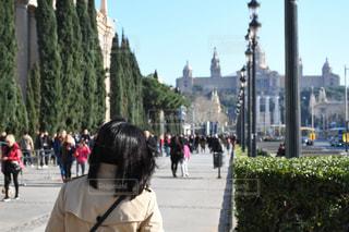 後ろ姿,旅行,バルセロナ,カタルーニャ