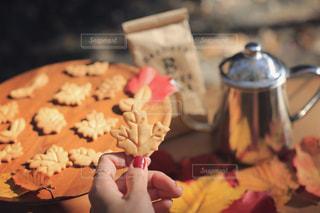 落ち葉クッキーの写真・画像素材[2921727]
