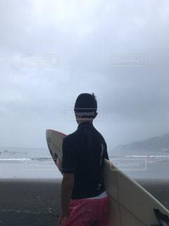 海,屋外,サーフィン,子供,男の子