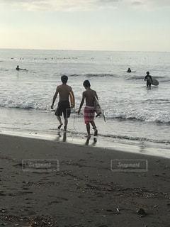 自然,海,スポーツ,サーフィン,ビーチ,親子,海岸,子供,人
