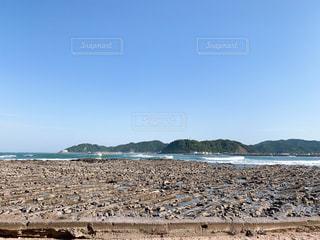 海,夏,屋外,散歩,休日,鬼の洗濯岩