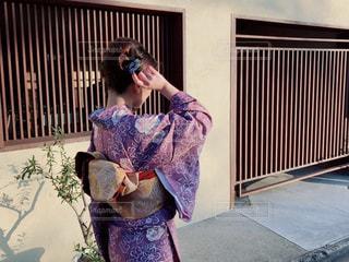 女性,20代,京都,後ろ姿,散歩,観光地,人物,背中,着物,人,旅行,旅,休暇,美,おしゃれ