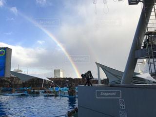 幸せの虹と空の写真・画像素材[1992115]