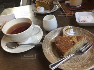 カフェ,ケーキ,茶色,紅茶,ミルクティー色