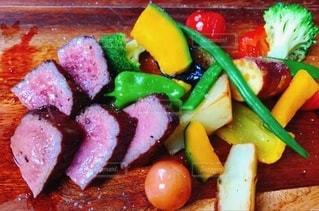 食べ物の皿の写真・画像素材[3520969]
