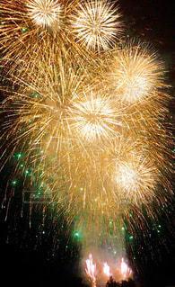 空の花火の写真・画像素材[3610737]