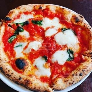 ピザの皿のクローズアップの写真・画像素材[4169148]