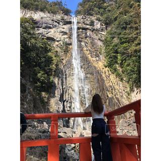 後ろ姿,世界遺産,滝,パワースポット,マイナスイオン,和歌山,私,那智の滝,那智勝浦