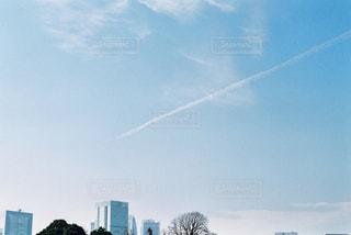 飛行機雲の写真・画像素材[1974040]