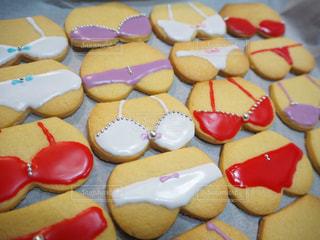 食べ物,スイーツ,かわいい,カラフル,デザート,クッキー,甘い,料理,おいしい,バレンタイン,手作り,アイシングクッキー,ビキニ,面白い,キュート,下着,アイシング,ビビットカラー,パンツ,ファンシー,アラザン,おしりクッキー